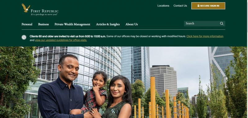 First Republic bank Homepage