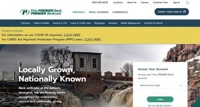 First Premier Bank HomePage