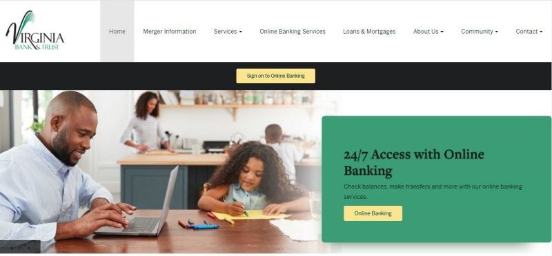 Virginia Bank and Trust HomePage